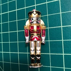 Jewelry - Nutcracker Pin with crystals